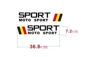 Image 4 - WRC العالم SUV الرياضة سباق السيارات ملصقات أسود أو أبيض اختياري مقاوم للماء الجانب شريط الشارات ملصقات