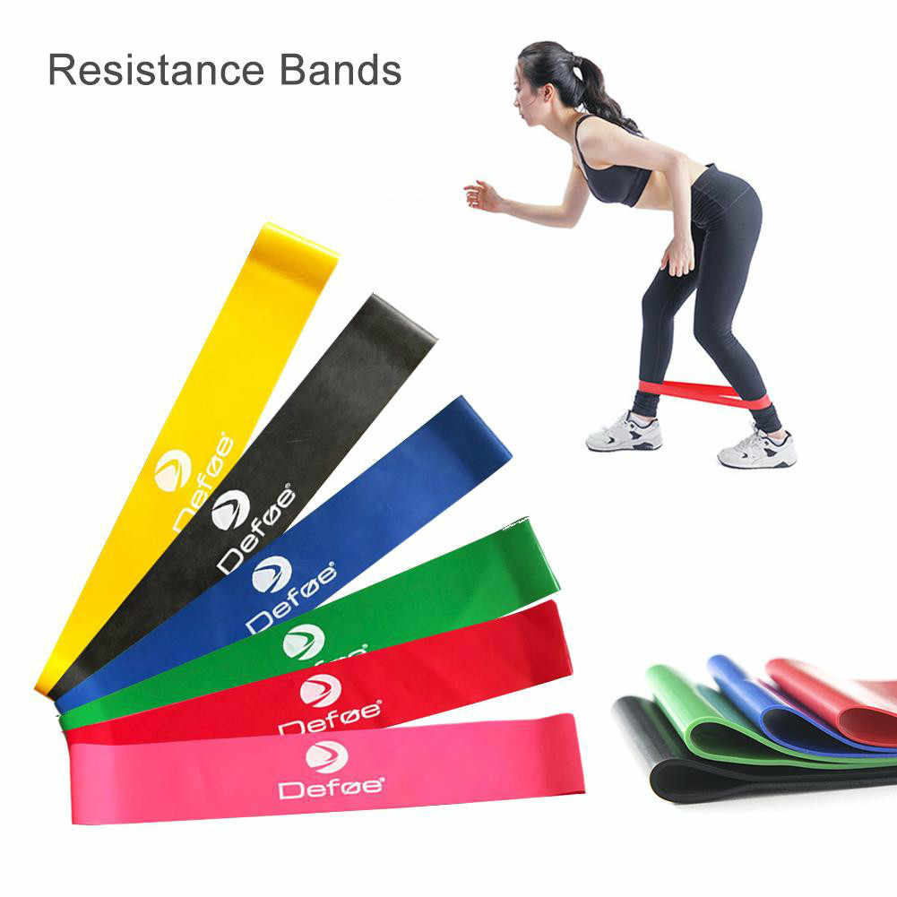 5c9fe0bcbca5 6 Levels Resistance Band Available Latex Gym Strength Training Elastic  Rubber Loop Pilates Exercise Bands Fitness