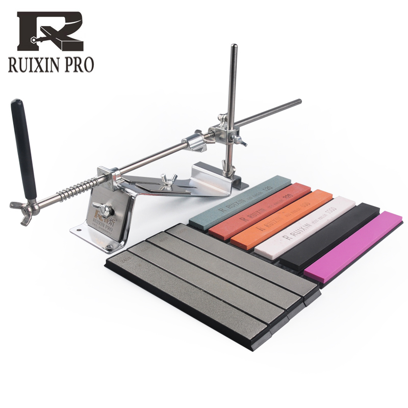 [Video]ruixin pro Steel Professional Knife Sharpener Tool Sharpening Machine Kitchen Accessories Grinding device bar diamond(China)