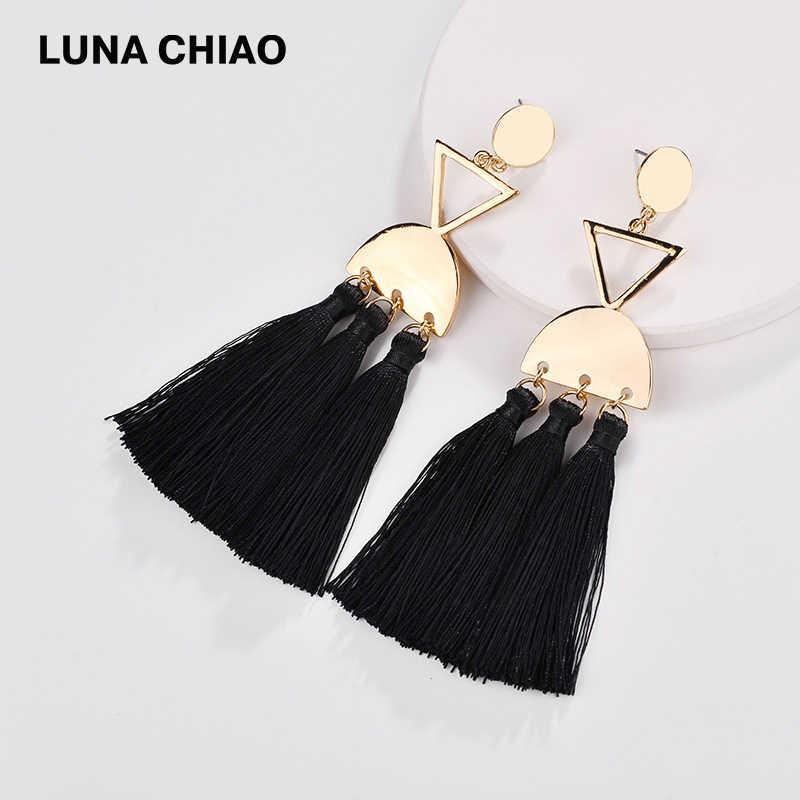 LUNA CHIAO Fashion 2018 Fall New arrivals Multi Tassels Drop Statement Earrings for Women