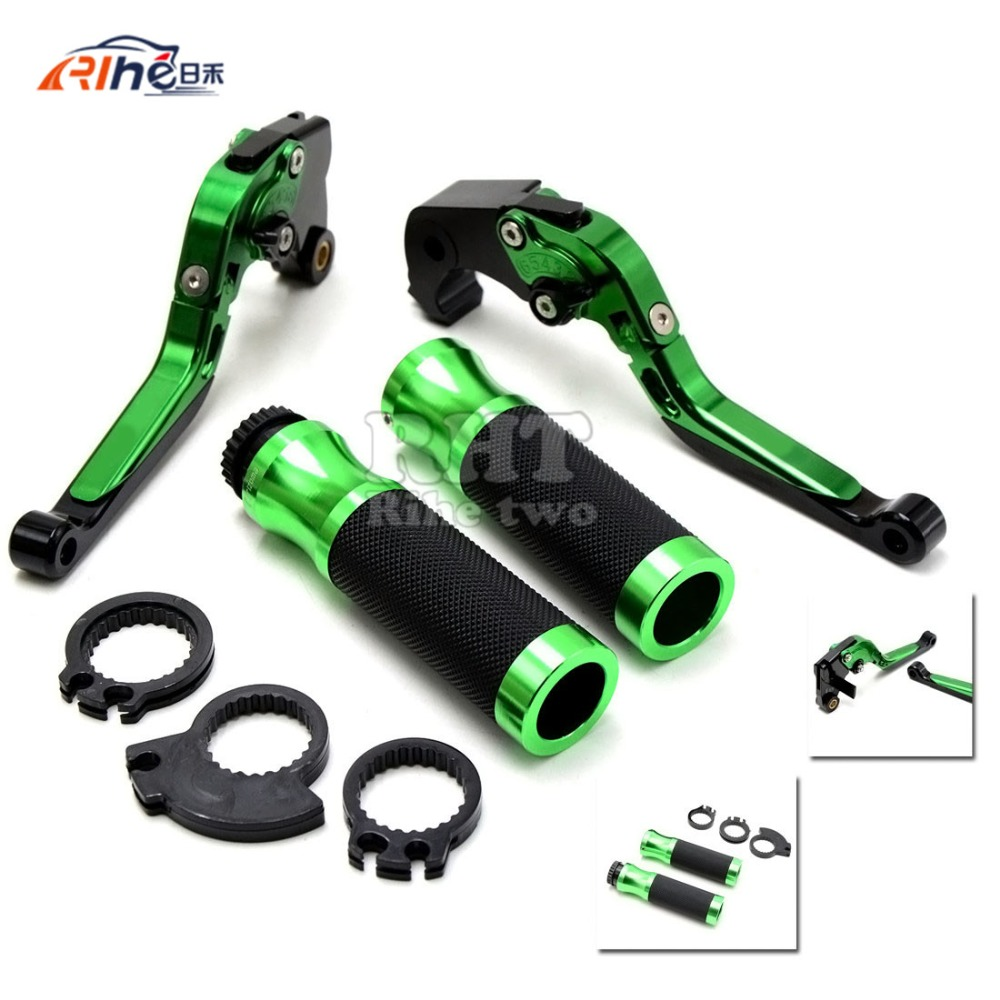 High Quality Motorbike CNC Adjust green  color Brake Clutch Lever  Handle bar for kawasaki z750 (Non modello z750s) 2007- 2011 цены