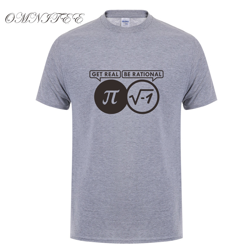 52ced9d1f 2017 Rational Real Nerdy Geek Pi Nerd T Shirts Men