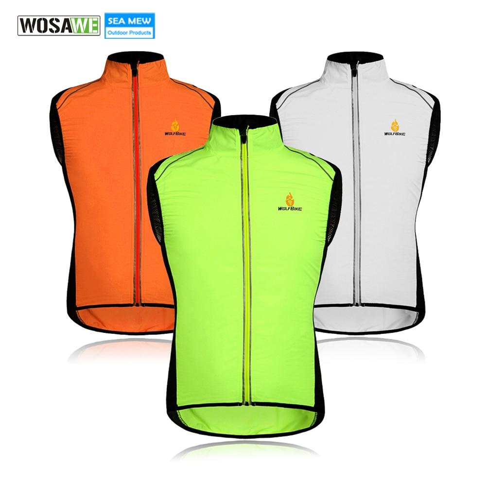 WOLFBIKE אופניים Gilet בגדי ספורט ביגוד עמיד ללבוש מעיל רוח אופניים לנשימה ג'רזי ללא שרוולים רכיבה על אופניים אפודים רפלקטיביים