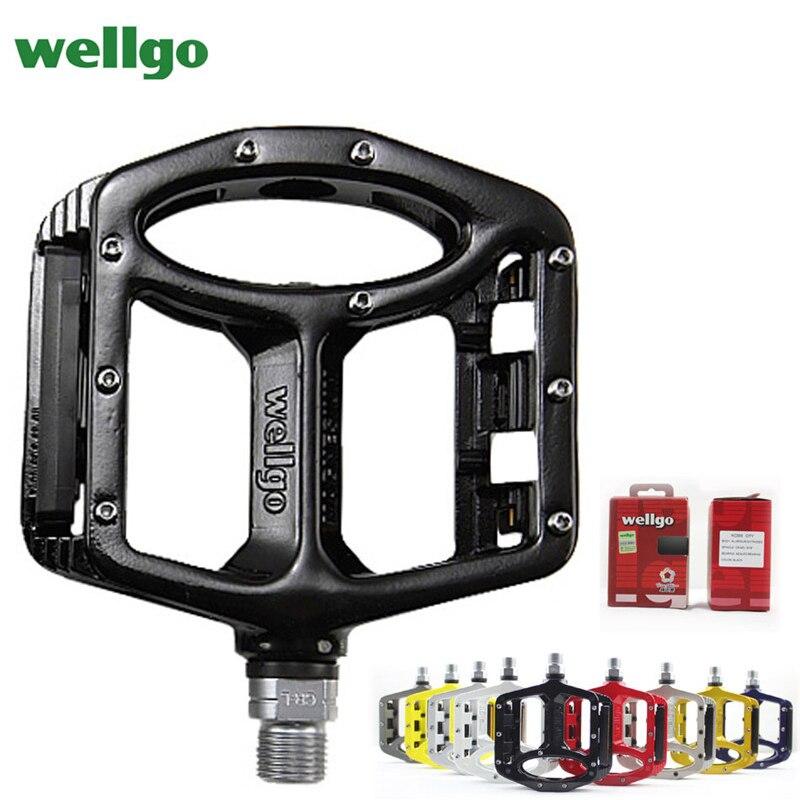 Pédales vtt Wellgo 2 pédales de vélo à roulements scellés pour pédales de VTT de route bmx larges pédales de cyclisme en alliage de magnésium MG-1 - 2