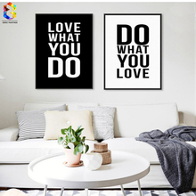 Minimalist Black White Motivational Typography Love Quotes Canvas Art Print Painting Poster, Wall Pictures For Home Decoration