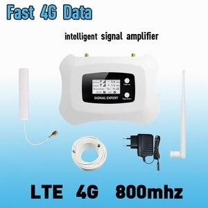 Image 1 - 4G LTE 800mhz להקת 20 70dB טלפון סלולרי אות מגבר נייד מגבר LTE 800 נייד מהדר 4G booster אנטנת סט