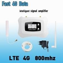4G LTE 800mhz bande 20 70dB amplificateur de Signal de téléphone portable amplificateur cellulaire LTE 800 répéteur Mobile 4G Booster antenne ensemble