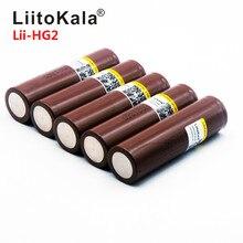 Liitokala hg2 2019 18650 3000 mah, baterias recarregáveis, alta carga, alta corrente 30a