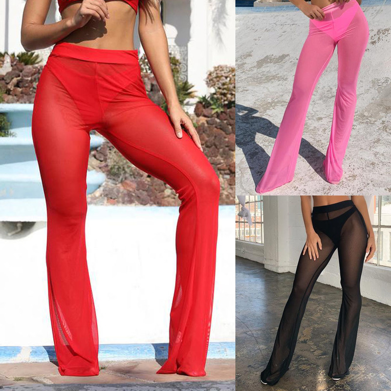 EBAY sell like hot cakes in spring and summer hot style slacks sexy gauze leisure trousers ZC3191 wide-legged horn