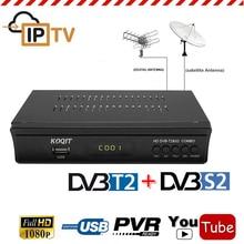MPEG4 1080P DVB-T2 Terrestrial DVB-S2 Satellite Receiver Combo TV Tuner Support 3G Wifi IPTV m3u Player Power Biss Cline Youtube