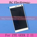 White LCD Display panel sensor lens glass Touch Screen Digitizer Assembly for ZTE GEEK 2 II free shipping