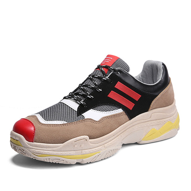 2018 New Tide Men s Breathable Running Shoes Male Shoes Men Sneakers Lace  Up Comfortable Shoes for Sport Shoes 2cbc27ced