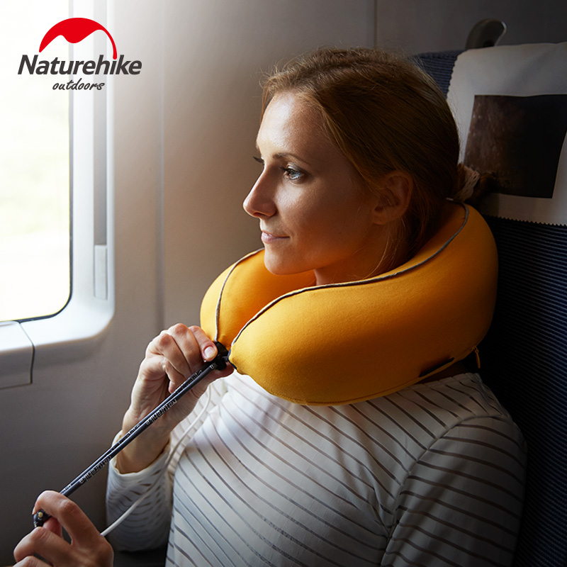 Naturehike Massage Pillow Memory Foam U Shaped Airplane Head Rest Neck Pillows Travel Accessories u miss functional inflatable neck pillow inflatable u shaped travel pillow car head neck rest air cushion for travel neck pillow