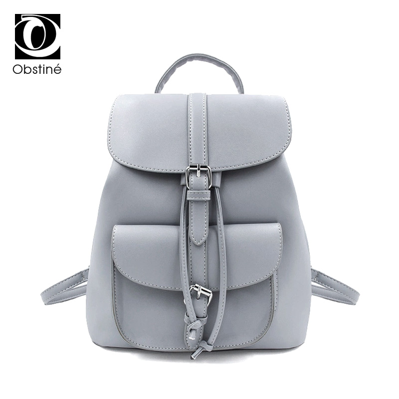 White PU Leather Backpack Female Small Backpacks Women School Bag For Teenagers Girls Drawstring Back Pack Ladies Bagpack 2018
