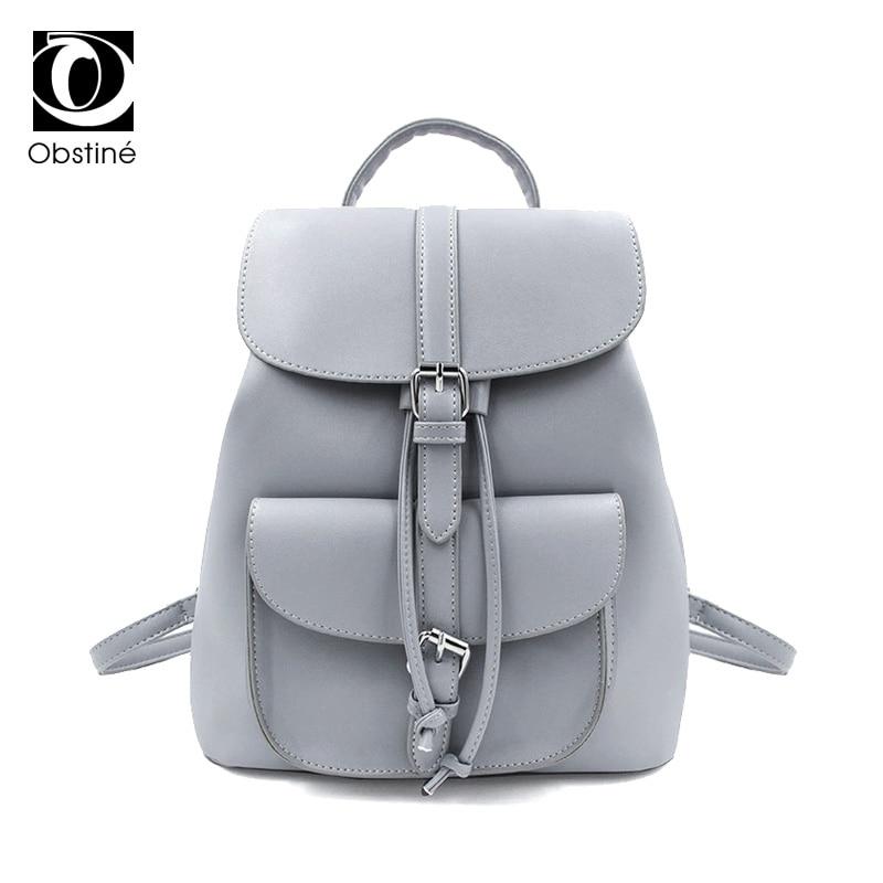 White PU Leather Backpack Female Small Backpacks Women School Bag For Teenagers Girls Drawstring Back Pack Ladies Bagpack 2018
