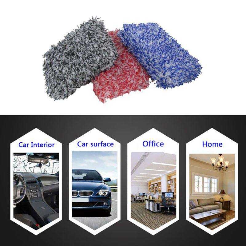 High Density Car Cleaning Soft Absorbancy Glove Ultra Soft Easy To Dry Auto Detailing Microfiber Madness Wash Mitt Cloth Towel