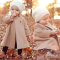 Fashion Details Cute Kids Children Girls Beige Winter Long A-shaped Coat Jacket Outwear