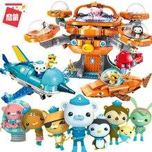 Octonauts Building Block Octopod Gup Submarine Boat Oct-Pod with GUP-C GUP-E GUP-D GUP-K GUP-I Legoes Brick Toys Children Gift