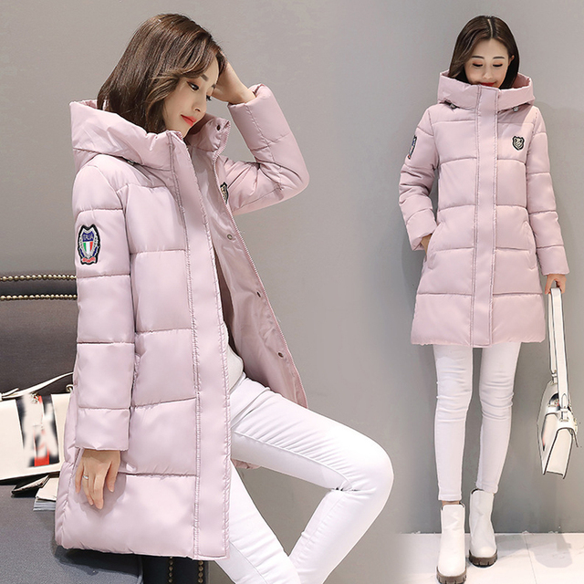 Jocoo Jolee 2018 Women Parkas Winter Female Warm Thicken Middle-Long Slim Hooded jackets coat Outwear Parkas coat M-3XL