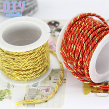 Tag-String Cord-Rope Twine Packing Gift Wedding-Party-Decoration Gold Multicolor Red