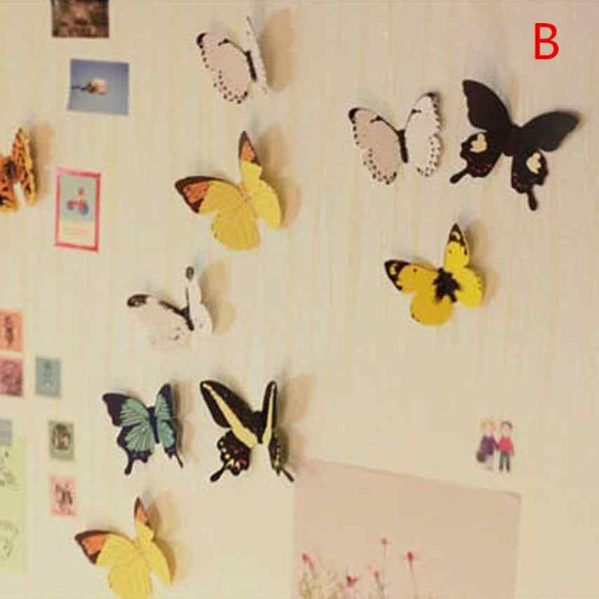 حار بيع الإبداعية ملصقات جدار صائق الفراشات 3D مرآة جدار الفن المنزل الديكورات جديد شعبية مضحك الحيوانات ديكور ملصق