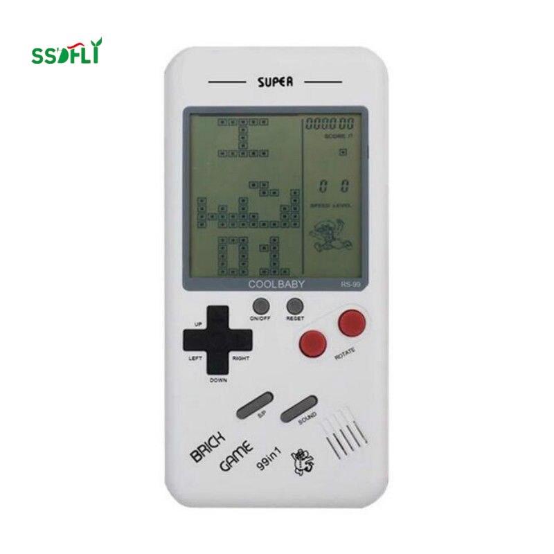 Маленькая портативная игровая консоль для детей, Классическая ностальгическая головоломка для студентов, встроенные в различные игры, Кла...