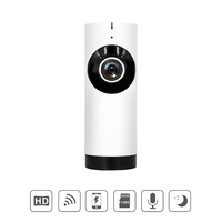 Wholesale 10pcs/lot 720P Wireless WiFi IP Camera 185 Degree Fisheye Mini Camera Home Security Surveillance CCTV Camera