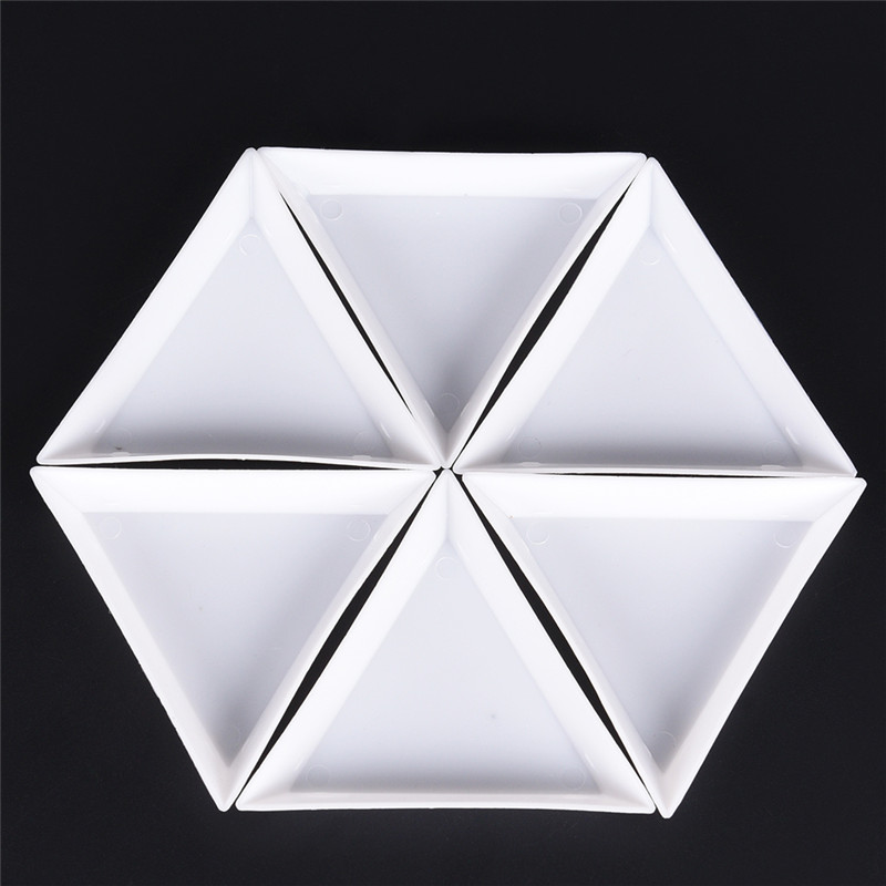 10pcs/lot Environmental PP Triangle Plate For Jewelry Beads Organizer White Containers For Beads Display Plastic Tray Packaging
