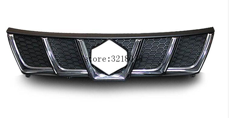 high quality For Suzuki Vitara 2016 ABS Chrome Trim Chromium Styling Car Front Grill Grid Covers Decoration Accessories