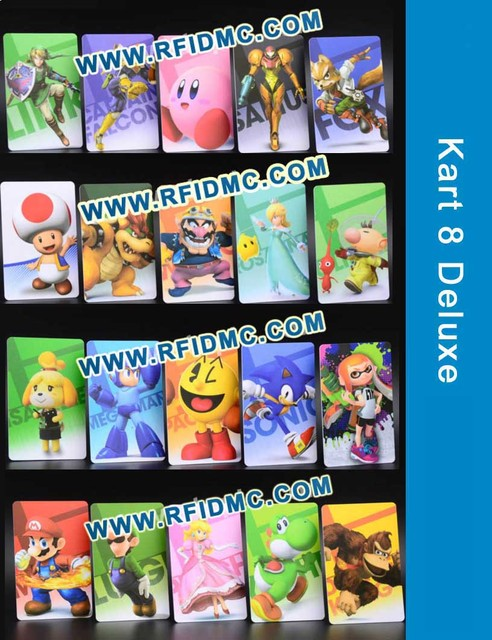 Kart 8 Deluxe NFC Card NFC NTAG215 Printing Card - 20 NFC Tags Only