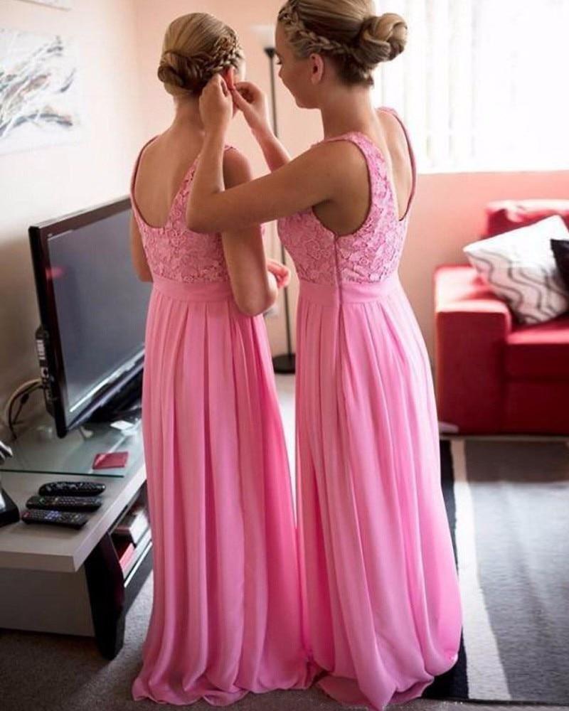 Hermosa Vestido De La Dama De Honor Roja Larga Cresta - Colección de ...