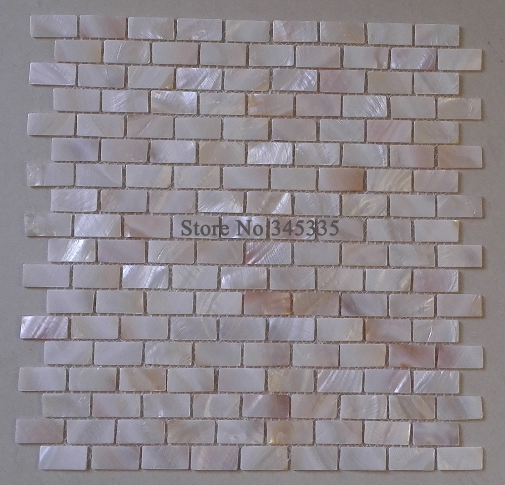 Wall tile buy cheap stone wall tile lots from china stone wall tile - Brick Mother Of Pearl Shell Mosaic Tile Kitchen Backsplash Bathroom Decoration Wallpaper Background Wall Floor Tile