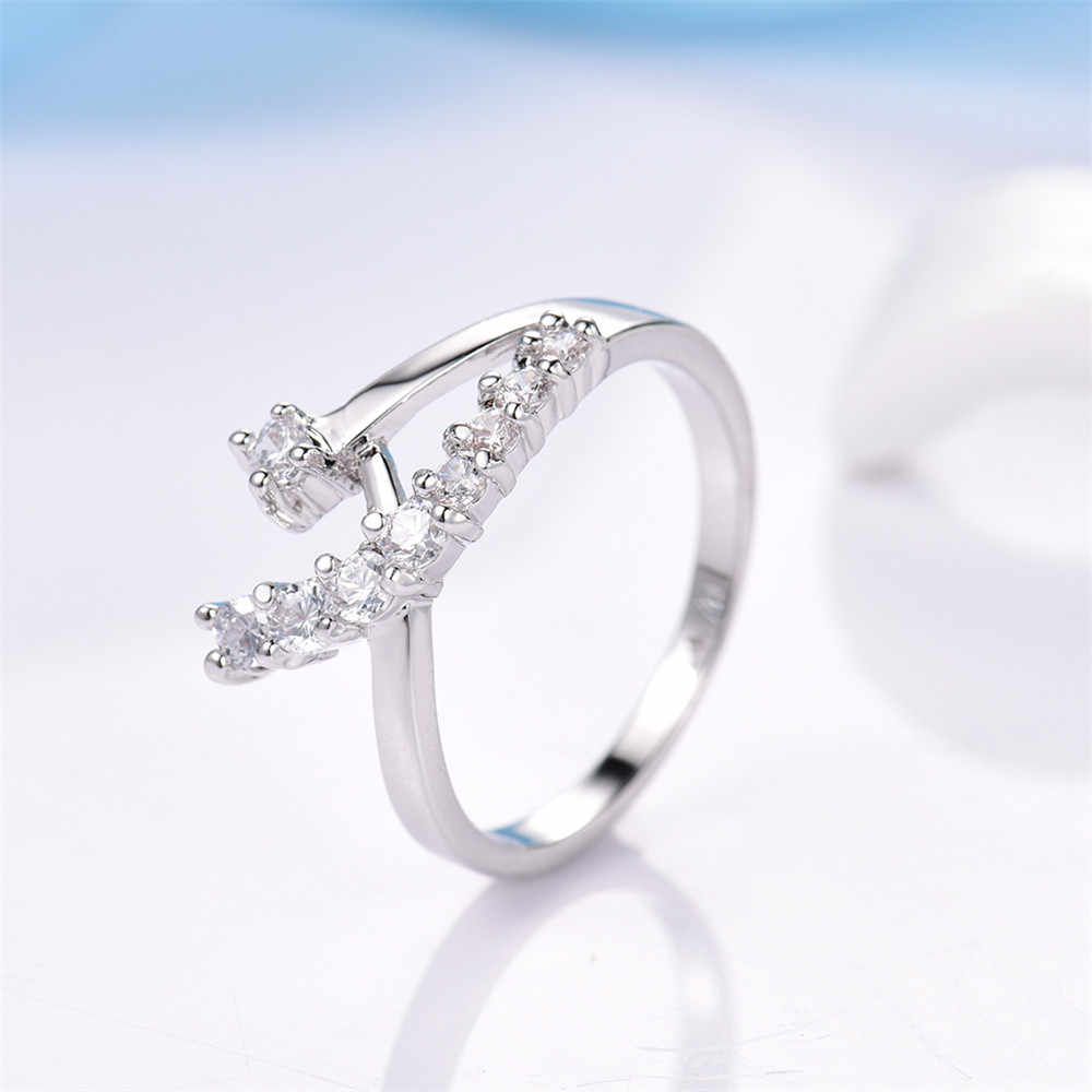 טבעות אצבע לנשים תכשיטי חתונה MOLIAM צבע כסף מעוקב Zirconia קריסטל טבעת אירוסין נשיים Bague MLR071 ספינת ירידה