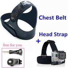 Elastic Chest Strap Belt + Camera Head Strap Mount For Gopro Hero3 4 Sj 5000 Sj4000 Sjcam Xiaomi Yi Action Camera Accessories