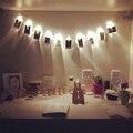 4.5 V 3xAA batería 2 M 20led con Fotografía y Tarjeta de clip de luces de la secuencia de luces De Navidad año nuevo partido de la boda decoración del hogar luces de hadas