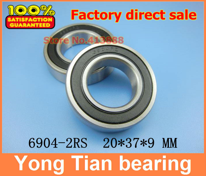High quality deep groove ball bearing 6904 2RS 6904-2RS 61904-2RS 6904RS 6904RZ 20*37*9 mm 10pcs/lot gcr15 6326 zz or 6326 2rs 130x280x58mm high precision deep groove ball bearings abec 1 p0