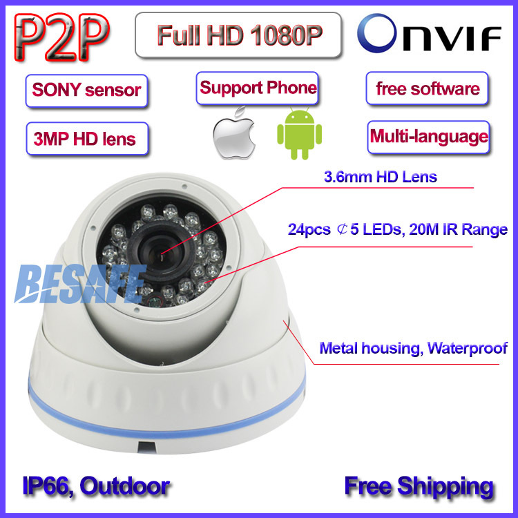 IMX322 Sensor 2 0MP CCTV camaras ip surveillance ONVIF 2 4 1080p ip font b camera