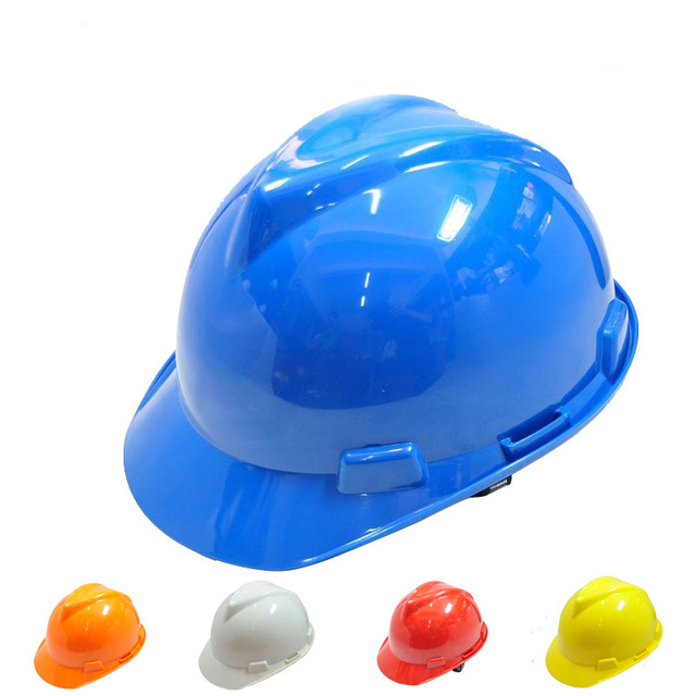 Anti-smash Breathable V shape hard hat construction site engineer Safety Helmet  PE material venitex work protective safety cap