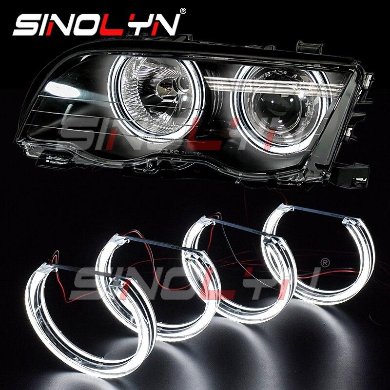 LED Angel Eyes DRL Halo lumières DTM Style pour BMW série 3 E46 M3/E39/E36 halogène xénon projecteur accessoires phares Tuning