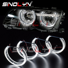 Sinolyn Angel Eyes Tuning Voor Bmw E46 M3/E39/E36/E38 Halogeen Xenon Koplamp Led Halo Auto verlichting Accessoires Retrofit Dtm Stijl
