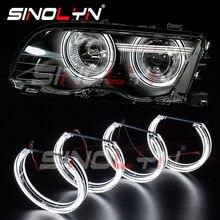 Sinolyn天使目チューニングbmw E46 M3/E39/E36/E38 ハロゲンキセノンヘッドライトledハロー車ライトアクセサリーレトロフィットdtmスタイル
