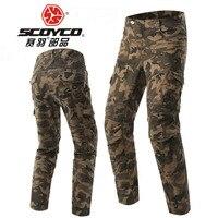 Scoyco мотоциклетные джинсы стрейч камуфляж локомотив брюки против взлома Ретро повседневные рыцарские сапоги Штаны камуфляжного цвета