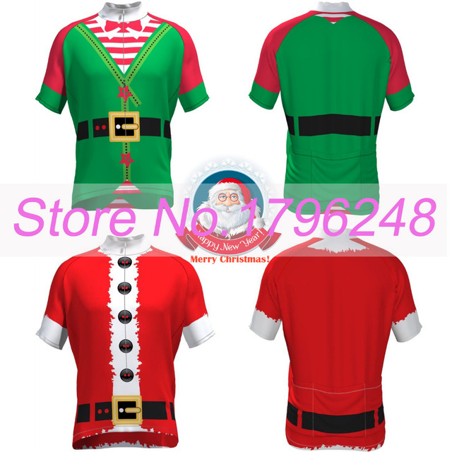 NEW 2017 Customized Merry Christmas Jersey pro   road RACE Team Bicycle Bike  Pro Cycling Jersey   Wear   Clothing   Breathable 5dafb13d2