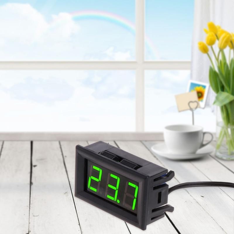 -50 ~ 110 Dc 12 V Digital Led Thermometer Auto Temperatur Monitor Panel Meter