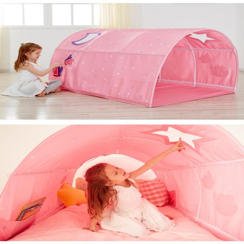 Tienda de campaña portátil para niños para jugar a la casa para niños plegable pequeña tienda de Decoración de casa, túnel de arrastre, pelota, piscina, tienda de campaña - 4