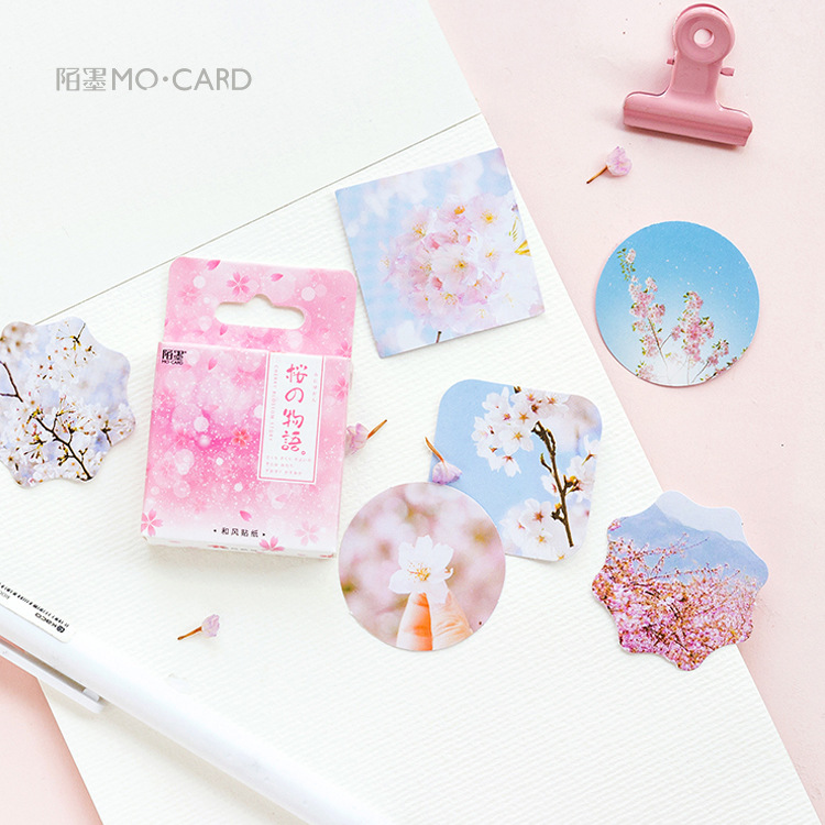 Sakura Show Stickers Set Decorative Stationery Stickers Scrapbooking DIY Diary Album Stick Label