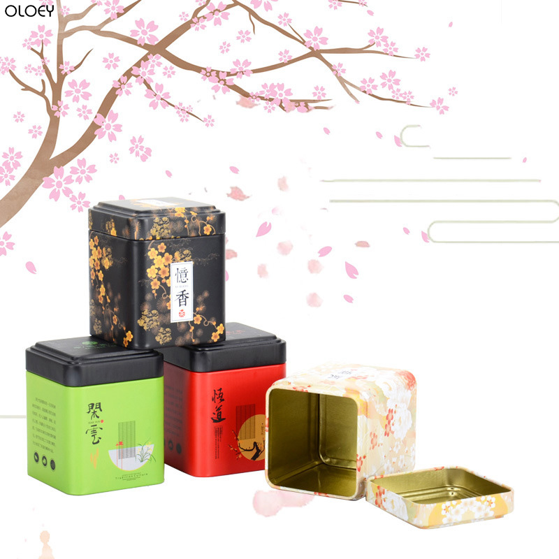 OLOEY Mini Small Tea Cans Tin Box Sub-package Box Universal Tea Packaging Box Empty Metal Cans Sealed Flower Tea Pot Tea CaddyOLOEY Mini Small Tea Cans Tin Box Sub-package Box Universal Tea Packaging Box Empty Metal Cans Sealed Flower Tea Pot Tea Caddy