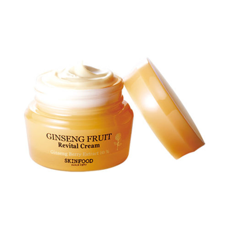 SkinFood Ginseng Fruit Revital CREAM 50ml Face Moisturizer Korean Cosmetics skinfood royal honey essential queen s cream 62ml new korea cosmetics