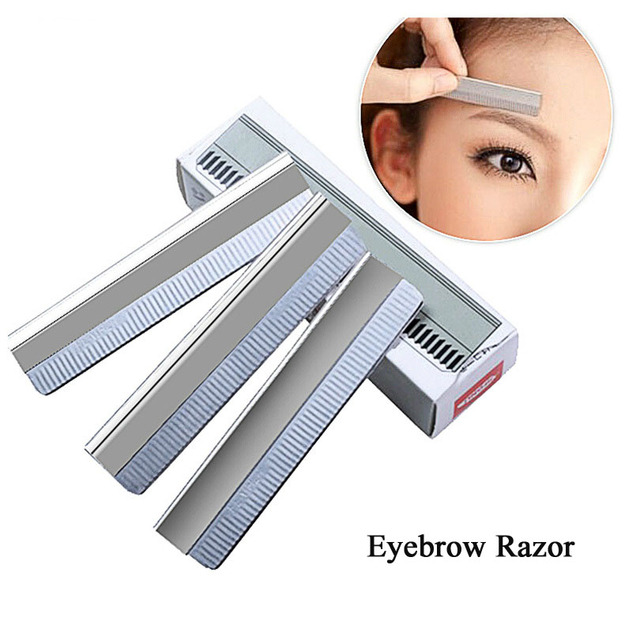 50 Pcs Eyebrow Razor Stainless Steel Microblading Eyebrow Trimmer Brow Shaving Trimmers Make Up Tools