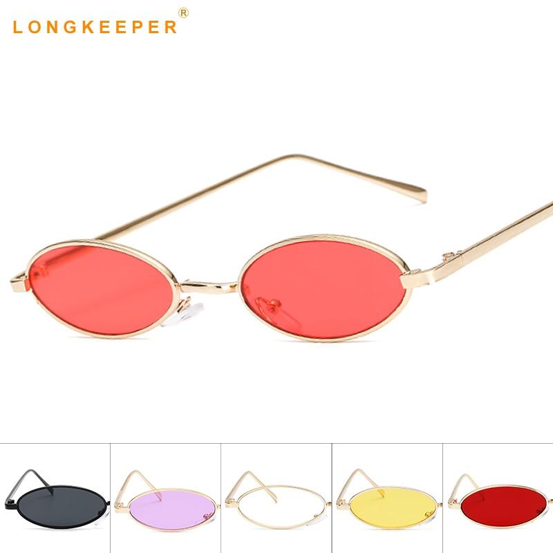 Fashion Women Small Oval Sunglasses UV400 Vintage Designer Eyewear Shades